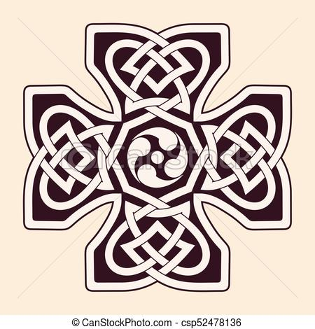450x470 Celtic National Ornaments. Celtic Cross. National Ornament