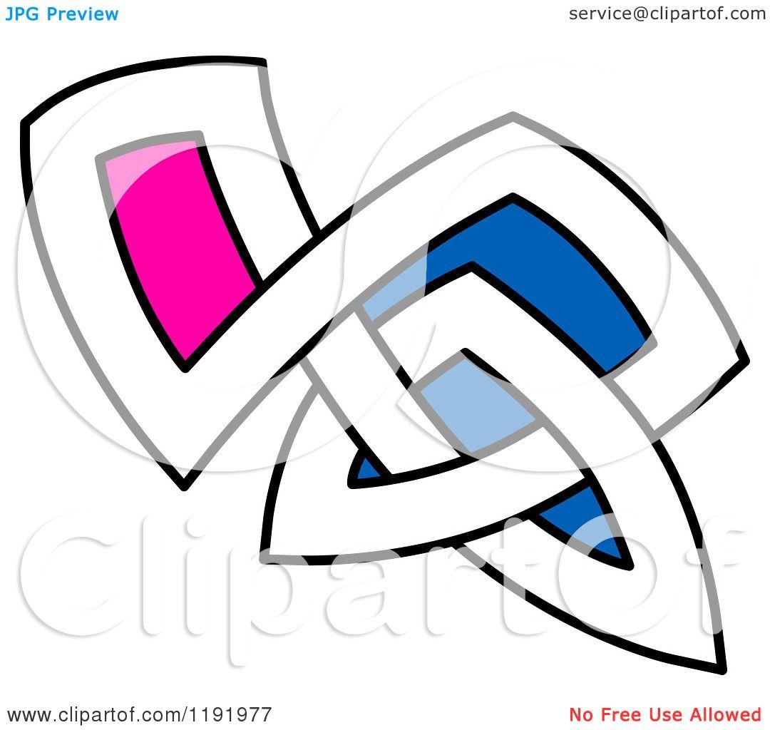 1080x1024 Clipart Of A Colorful Celtic Knot Design Element 11