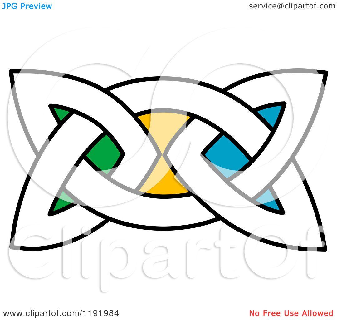 1080x1024 Clipart Of A Colorful Celtic Knot Design Element 6