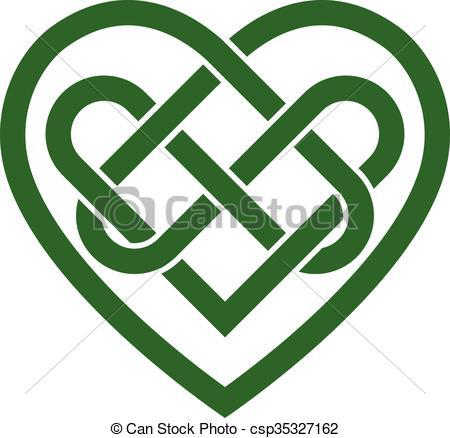 450x438 Heart Celtic Irish Knot Vector Clip Art Vector