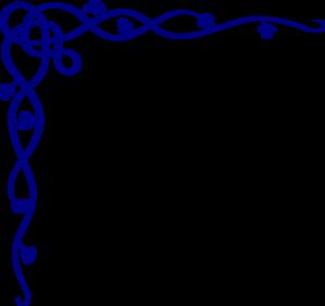 299x282 Royal Blue Celtic Corner Png, Svg Clip Art For Web