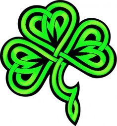 236x255 Swirly Shamrock Leaf Clover, Silhouette Design And Silhouette
