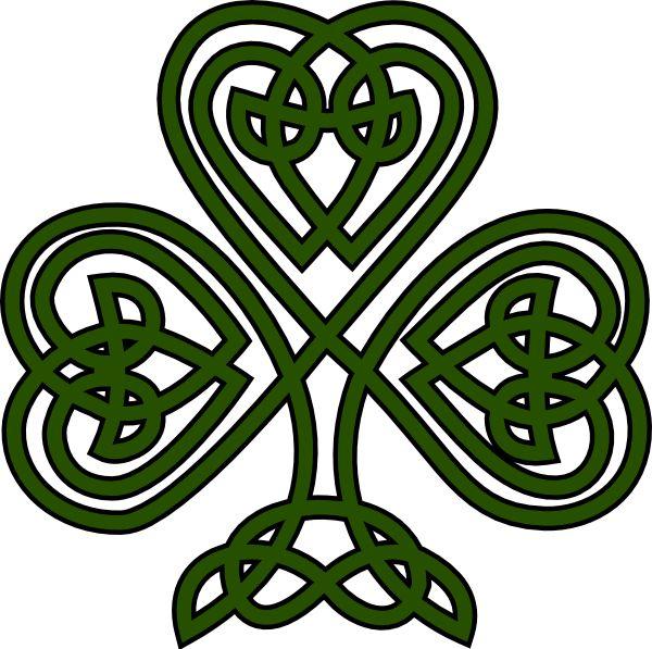 600x597 Celtic Design Shamrock Clipart