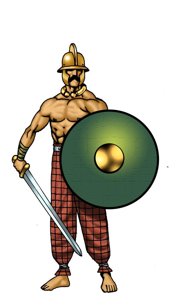 572x1000 Celtic Warrior Clipart