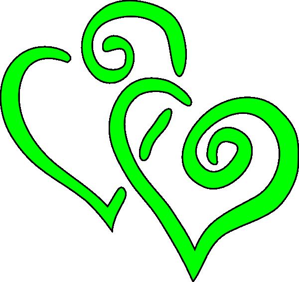 600x567 Big Lime Green Hearts Clip Art