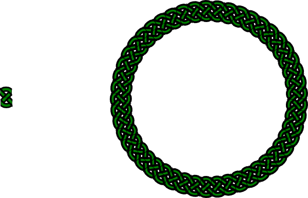 600x386 Green Celtic Knot