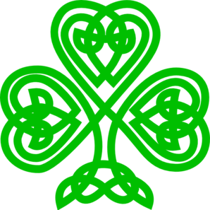 298x297 Celtic Shamrock Clip Art