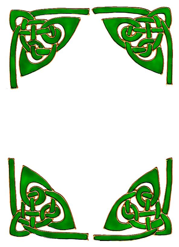 592x817 Celtic Green Corner Border Frame Clipart Collection