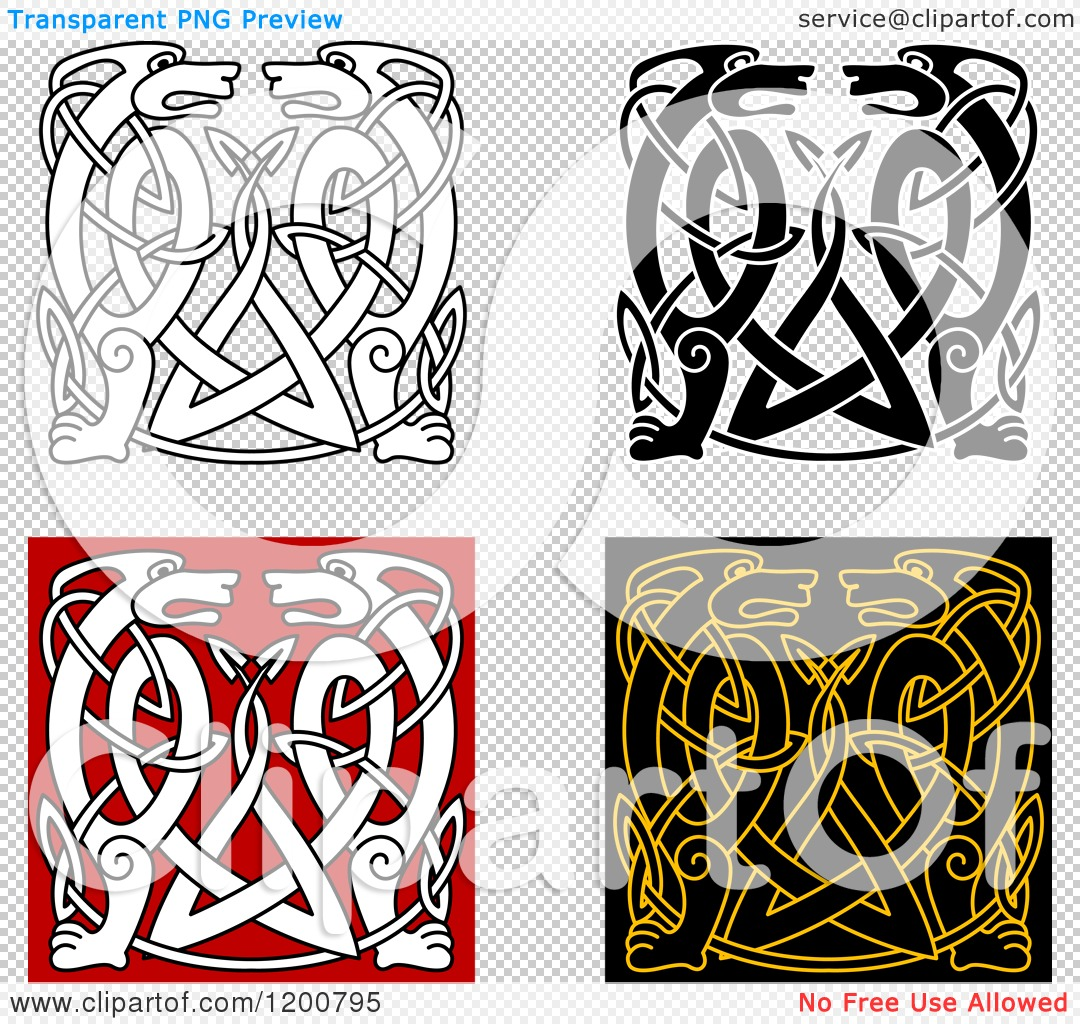 1080x1024 Clipart Of Celtic Animal Knot Designs 2