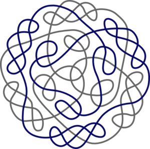299x297 Navy Gray Celtic Knot Clip Art
