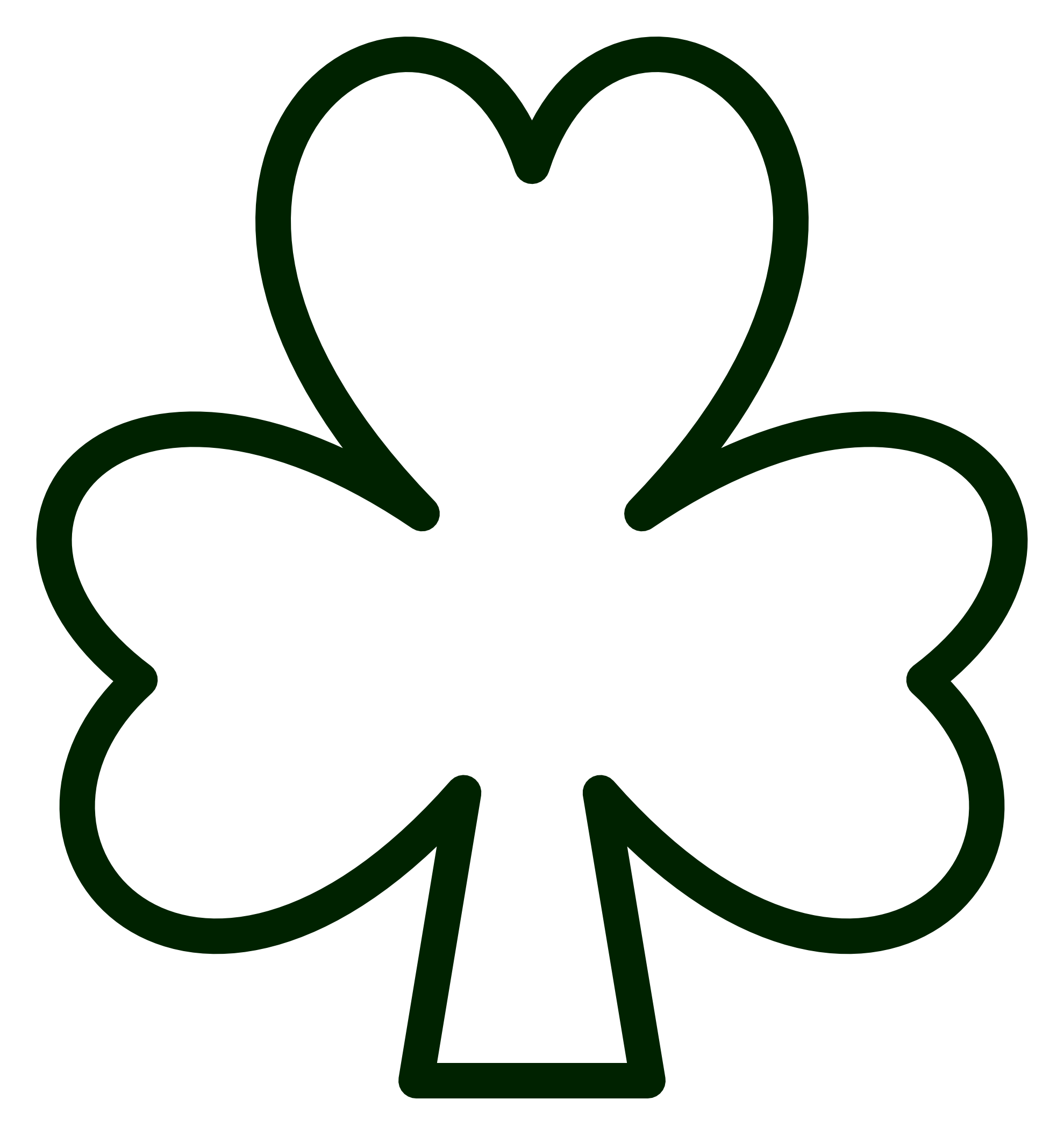 1979x2111 Celtic Shamrock Color Clipart