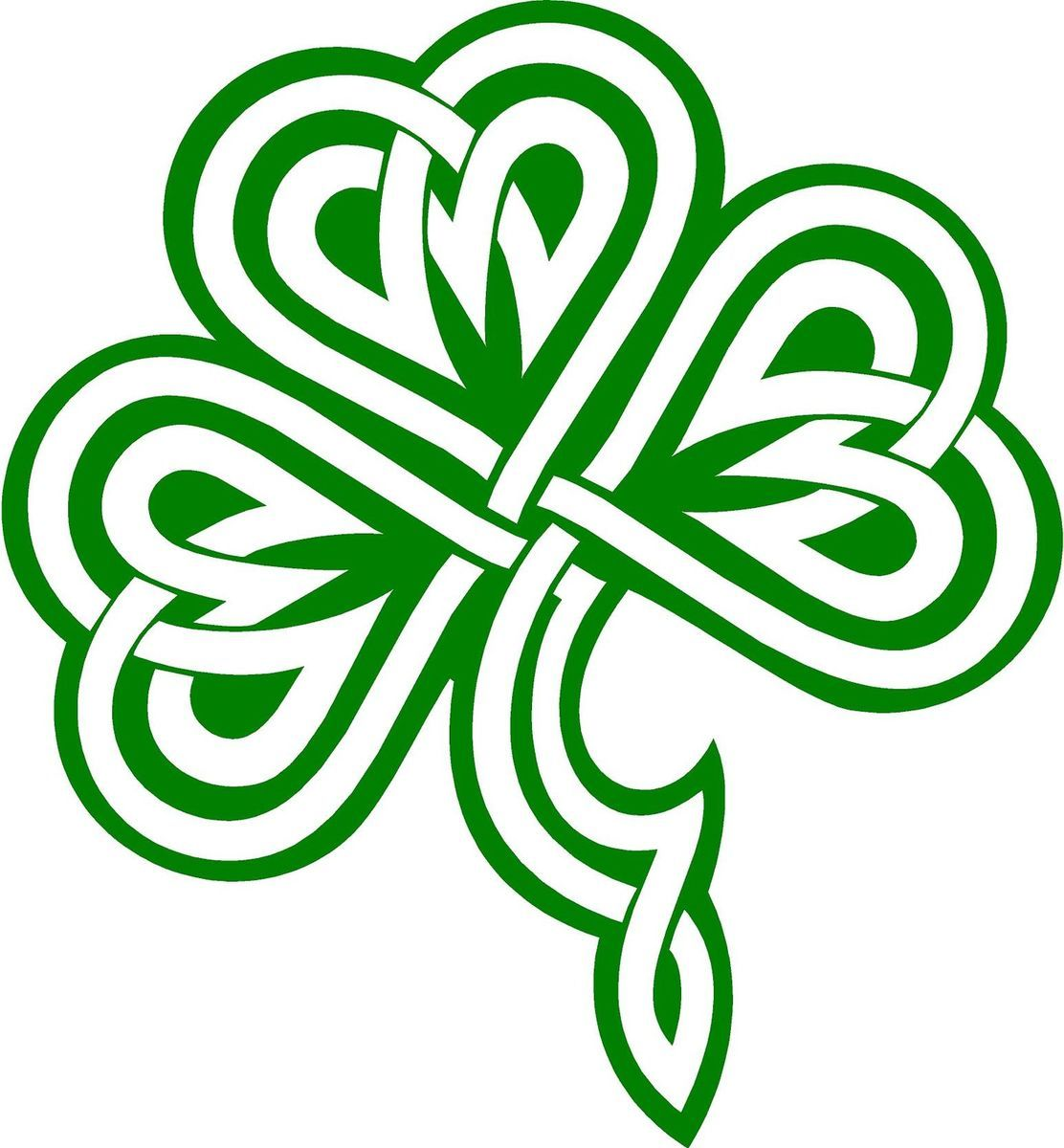 1112x1200 Clover Shamrock Celtic Knot Decal Sticker You Pick Color