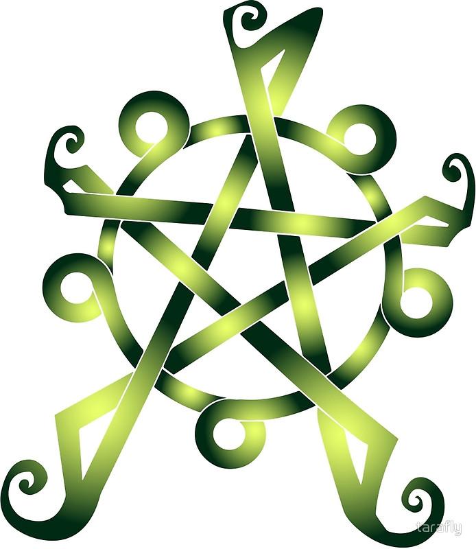 694x800 Pentagram Clipart Celtic Knot
