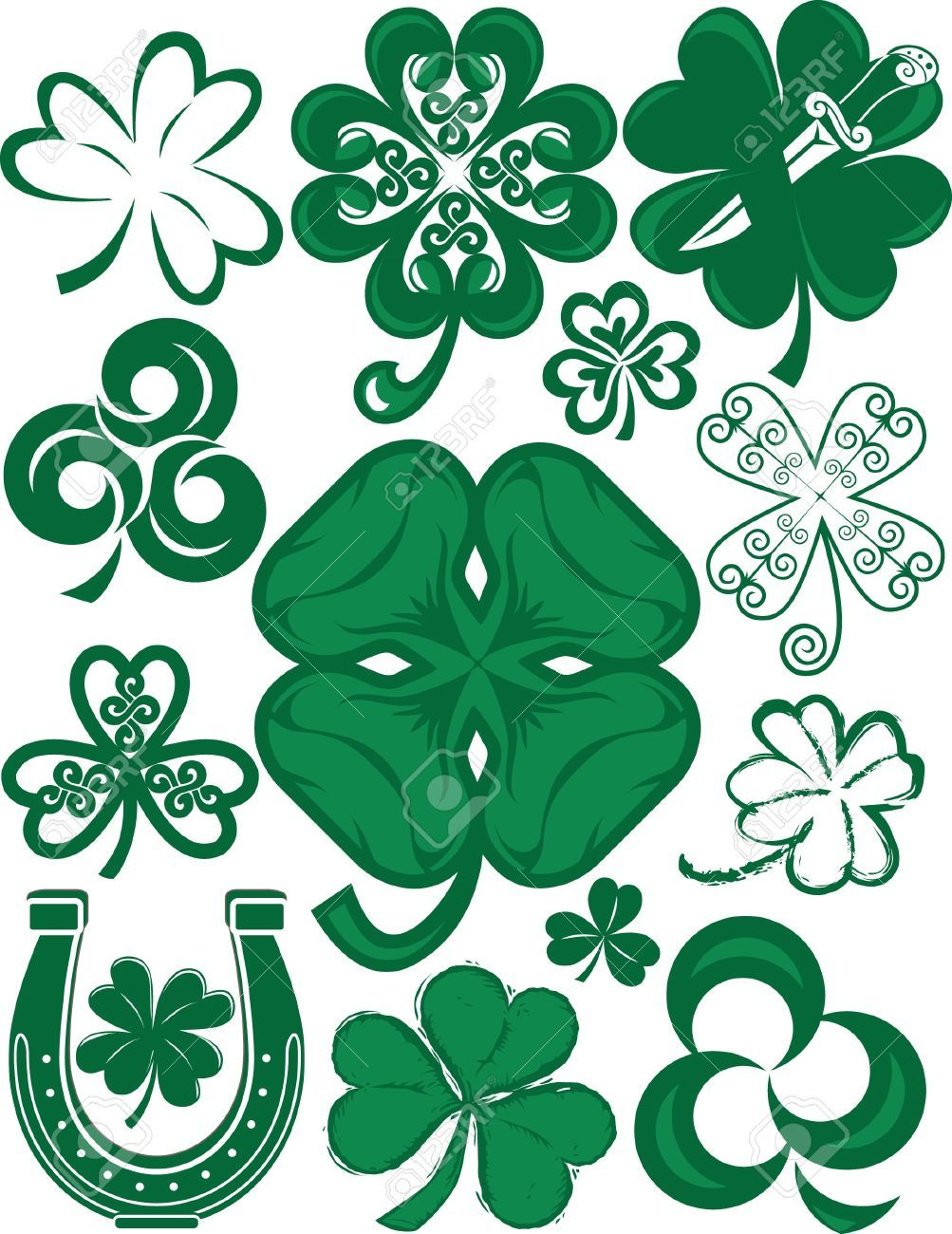 1003x1300 Clover Horseshoe Stock Photos Images, Royalty Free Clover St