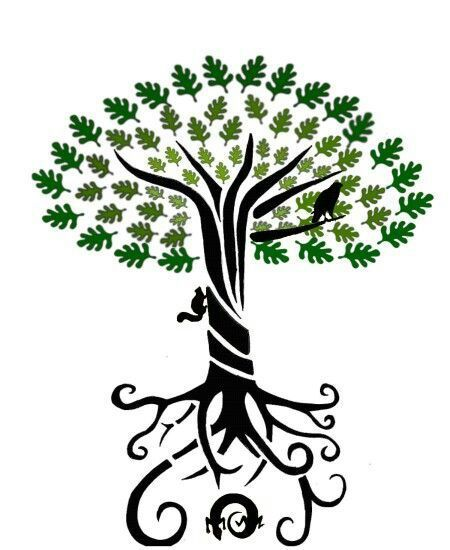450x550 Roots Clipart Anime Tree