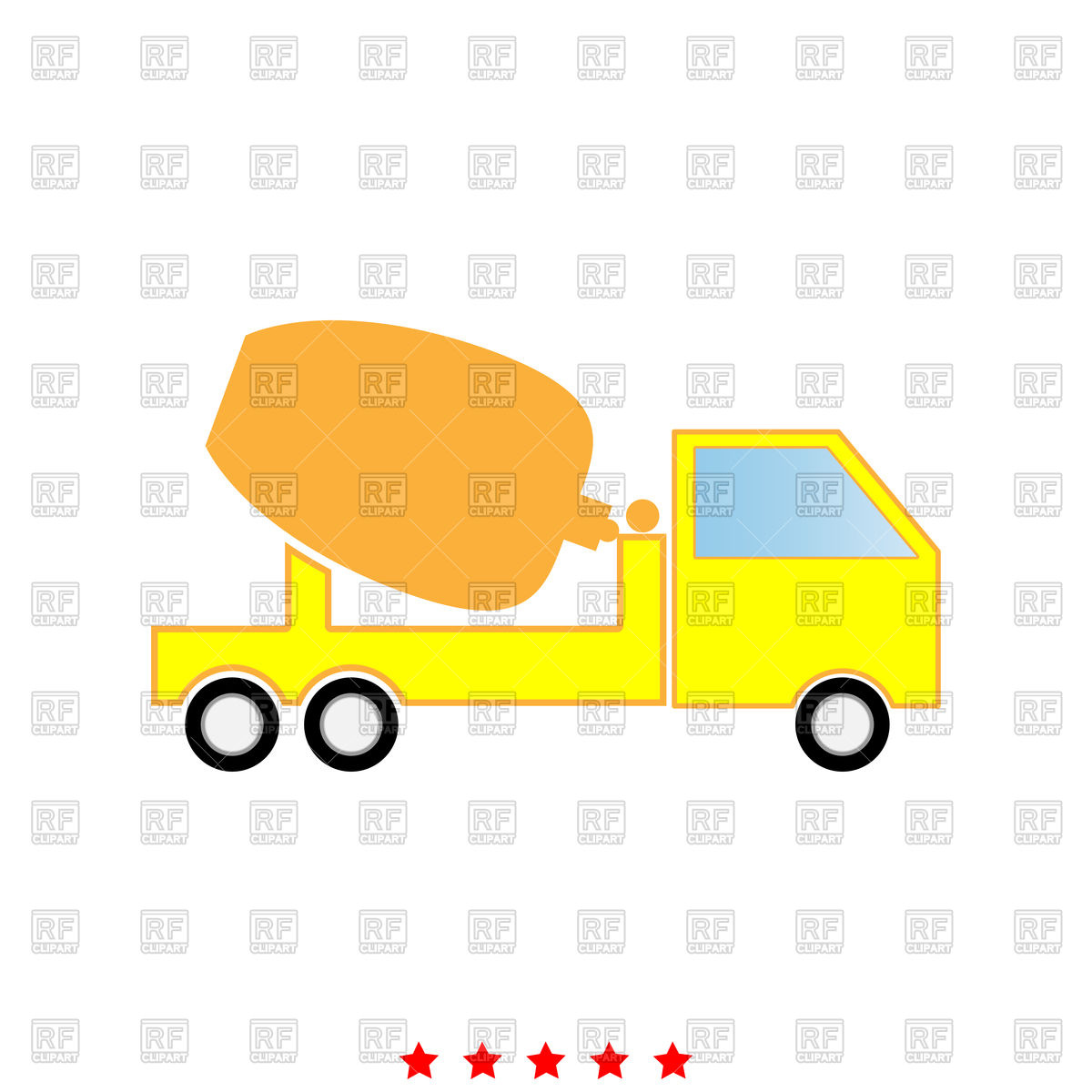 1200x1200 Cement Mixers Truck Icon Royalty Free Vector Clip Art Image