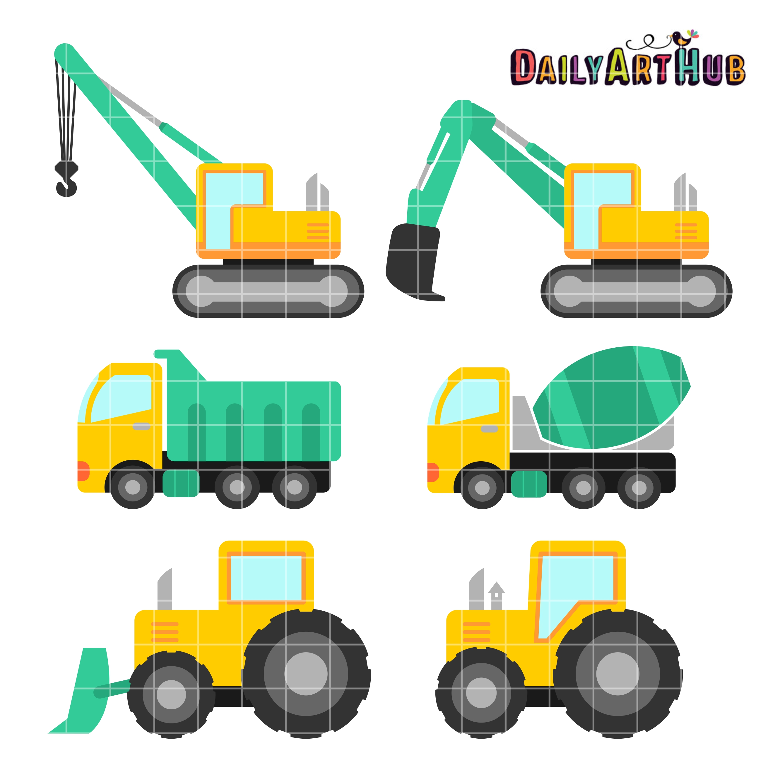2664x2670 Construction Vehicles Clip Art Set Daily Art Hub Free Clip Art