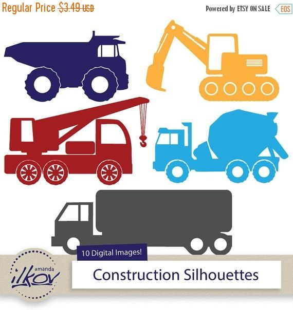 570x604 Premium Construction Trucks Clipart For Digital Scrapbooks