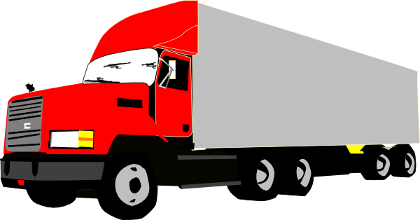 600x314 Red Truck Cliparts