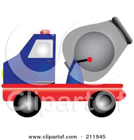 450x470 Royalty Free (Rf) Cement Mixer Clipart, Illustrations, Vector