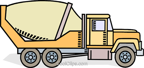 480x229 Cement Truck Royalty Free Vector Clip Art Illustration Vc010582