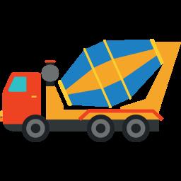 256x256 Concrete Mixer Truck Icon