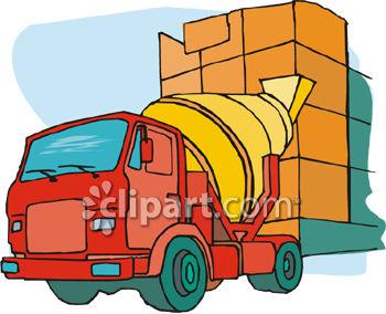 350x284 Cement Mixer Truck