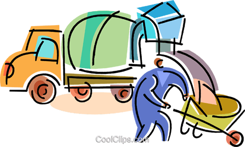 480x287 Cement Mixers Royalty Free Vector Clip Art Illustration Vc103094