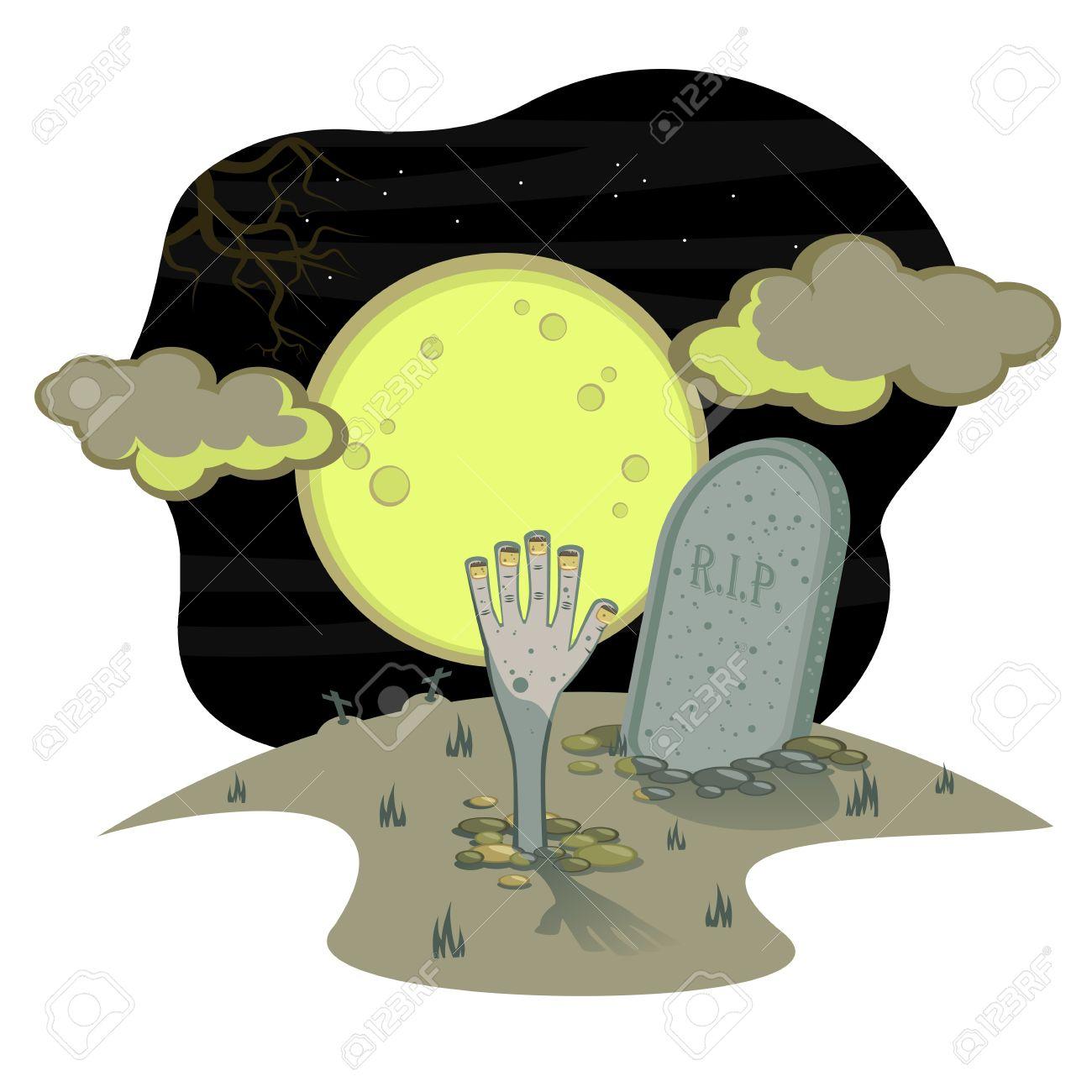 1300x1300 Graveyard Clipart Night Drawing