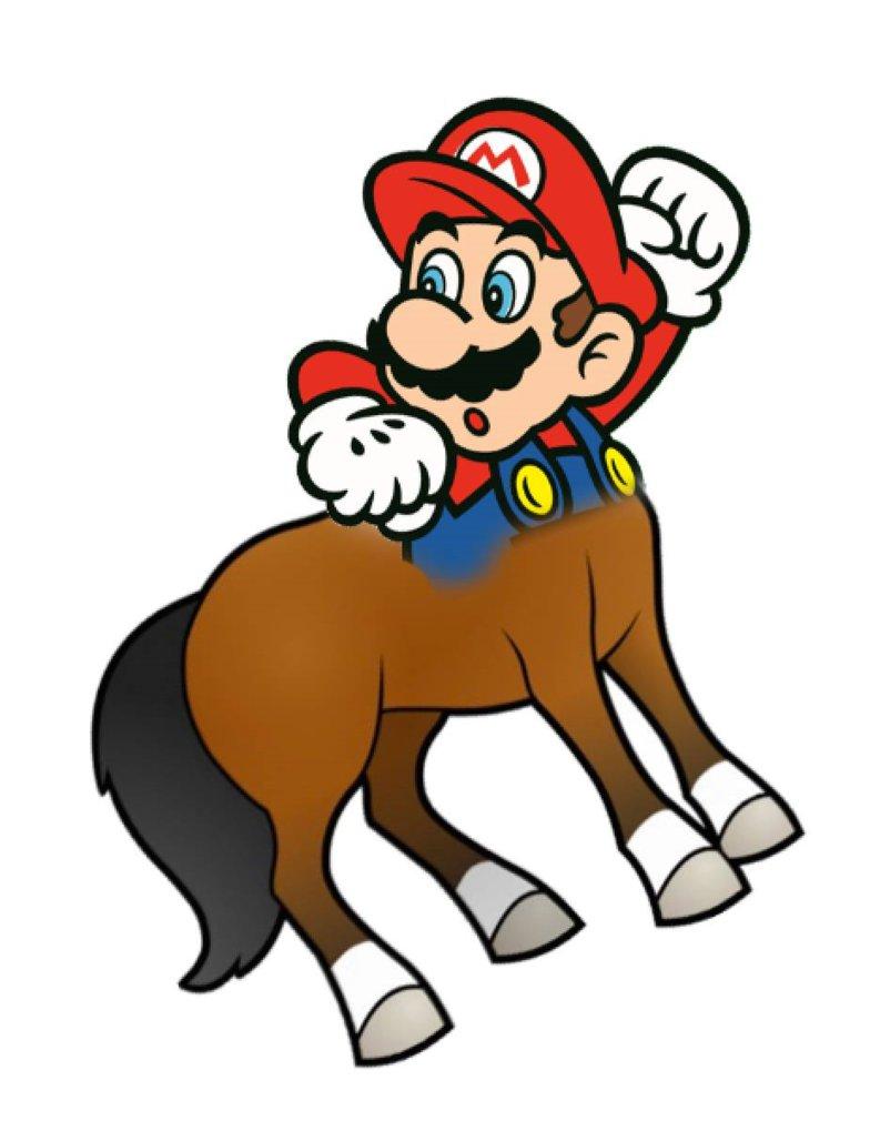 784x1019 Centaur Mario By Pxlcobit