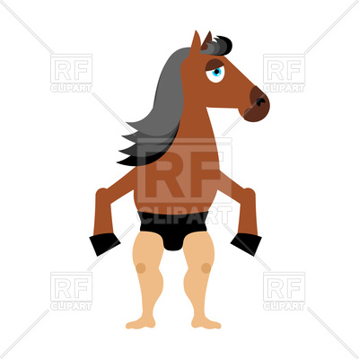 400x400 Centaur Fairy Tale Creature. Man Horse. Royalty Free Vector Clip
