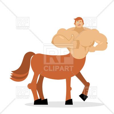 400x400 Centaur Mythical Creature Royalty Free Vector Clip Art Image