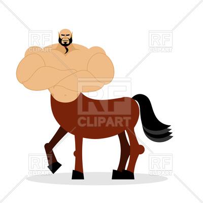 400x400 Centaur Mythical Creature. Half Horse Half Man. Royalty Free