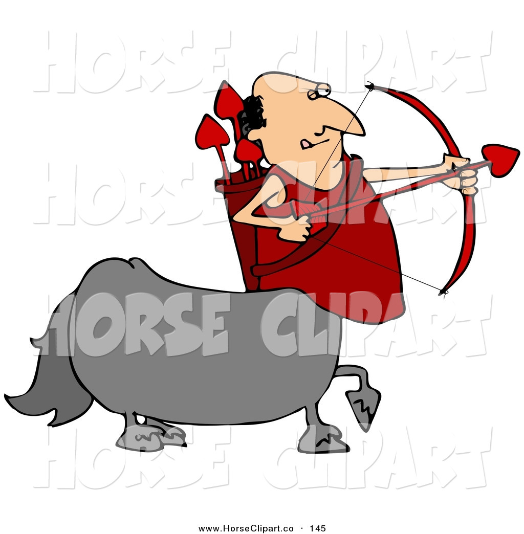 1024x1044 Clip Art Of A Caucasian Cupid Centaur Man Shooting Red Heart