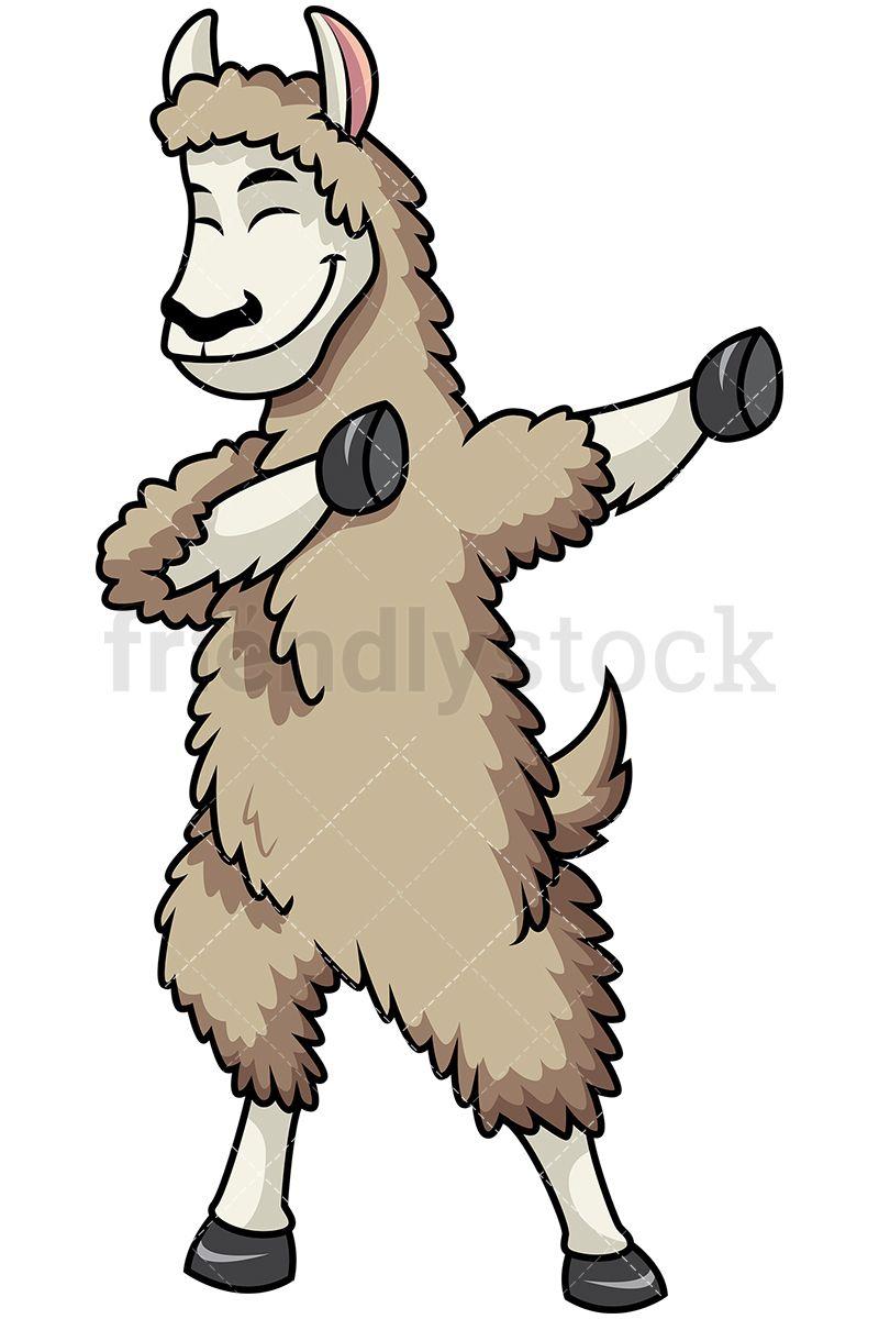800x1200 Dabbing Llama Cartoon Vector Clipart Llama Alpaca, Alpacas