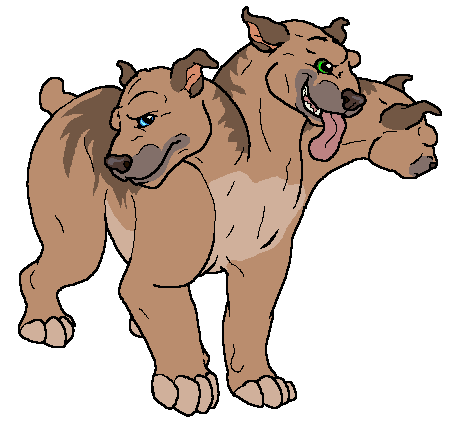 451x430 Collection Of Three Headed Dog Clipart High Quality, Free