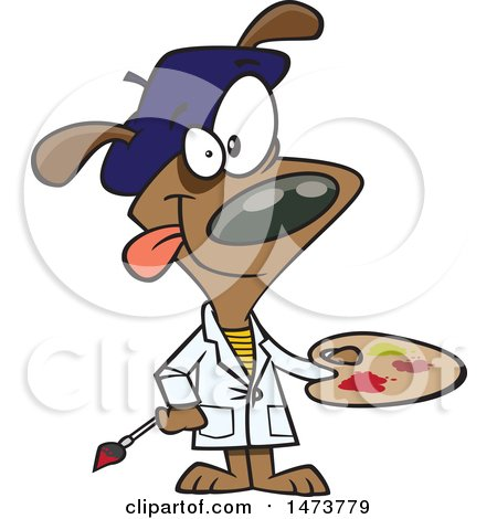 450x470 Royalty Free (Rf) Clip Art Illustration Of A Cartoon Dog Lounging