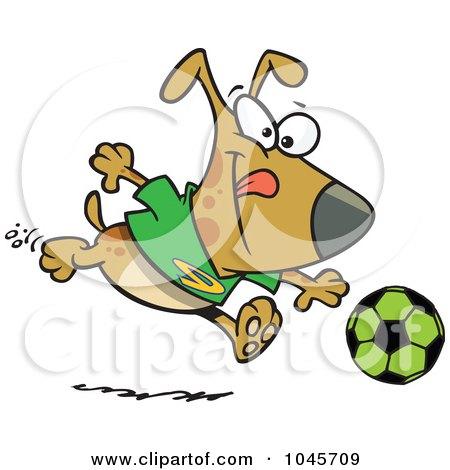 450x470 Royalty Free (Rf) Clip Art Illustration Of A Cartoon Dog Playing