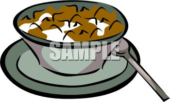 350x212 Flake Cereal In A Bowl Of Milk Clip Art