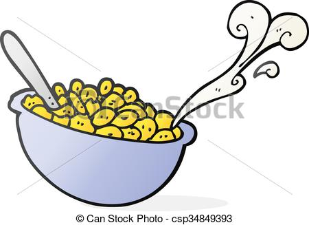 450x327 Freehand Drawn Cartoon Bowl Of Cereal Eps Vectors