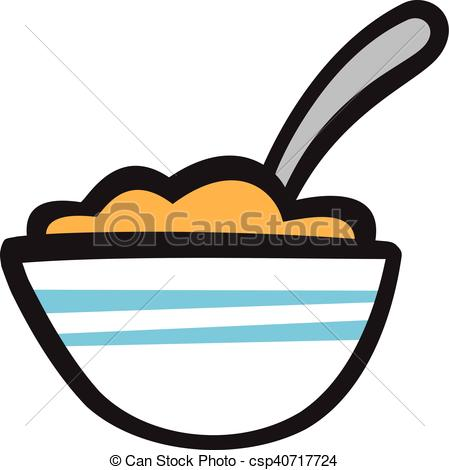 449x470 Bowl Of Cereal Vector Icon Vector Illustration