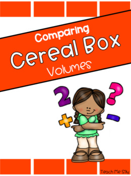 260x350 Cereal Box Volume Teaching Resources Teachers Pay Teachers