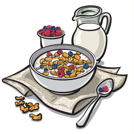 450x450 Cereal Clipart Breakfast Time