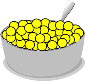 299x285 Bowl Of Yellow Cereal Clip Art