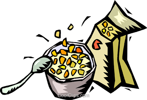480x326 Bowl Of Cereal Royalty Free Vector Clip Art Illustration Vc018216
