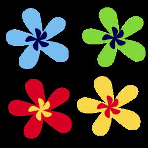 300x300 Rainbow Flower By @cesar Chavez Juarez, Ak Student, Clip Art