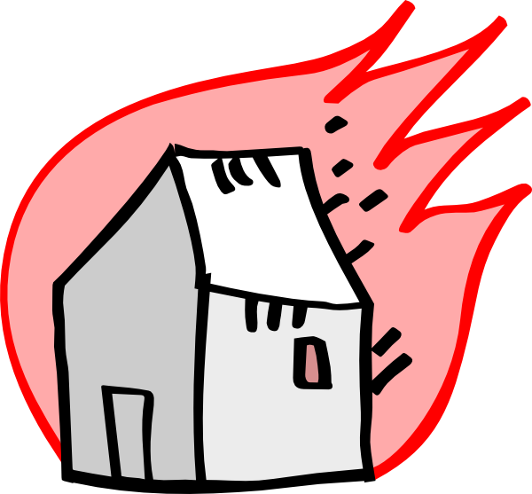 600x557 Burning House Clipart