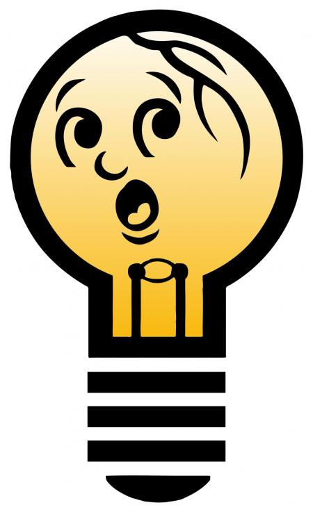 450x737 Compact Fluorescent Bulb Clipart
