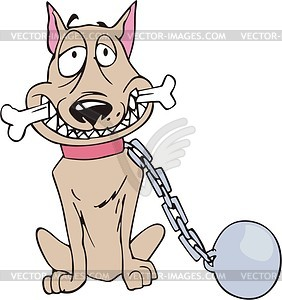 282x300 Clip Art Dog On A Chain Clipart
