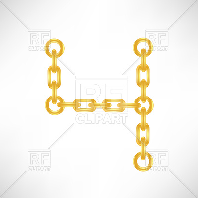 400x400 Gold Number 4 From Chain Royalty Free Vector Clip Art Image